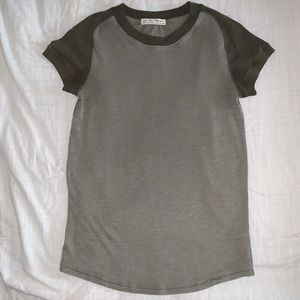 FREE PEOPLE forest green top